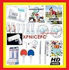 NNEW NINTENDO WII CONSOLE MARIO KART CHARGER HD GAMES TIGER WOODS