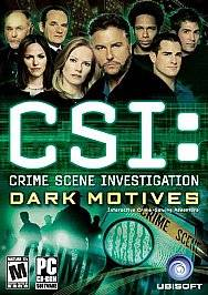 CSI Crime Scene Investigation Dark Motives PC, 2004