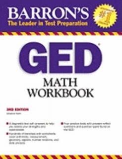 GED Math Workbook by Johanna Holm 2009, Paperback, Revised
