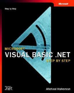 Microsoft Visual Basic .Net by Michael Halvorson 2002, Paperback