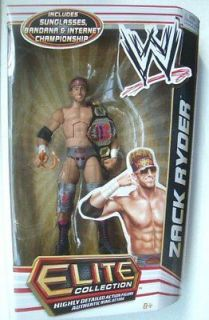 Wwe Action Figure Elite Series 17 Zack Ryder Hard to Find RARE LOOK