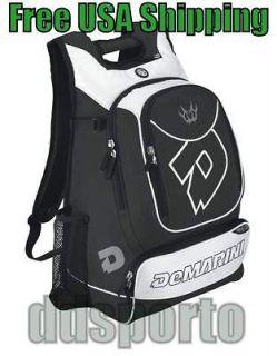 Demarini Vexxum Bat Pack Black/White Baseball Player Backpack Bat Bag