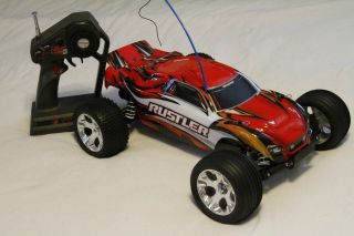 MINT 1/10 Scale Traxxas Rustler RC Truck with Battery