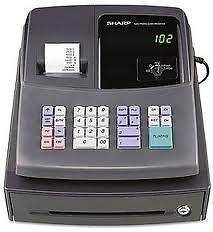 Sharp XE A106 Cash Register NEW, Free Paper
