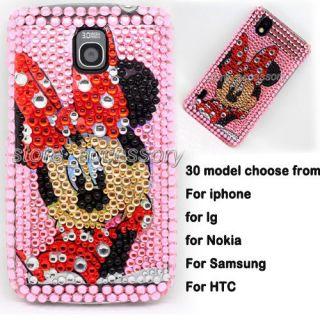 Crystal Bling Diamond Back Case Cover Skins For Mobile Cell Phone #B