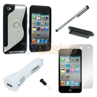 in 1 Accessory Bundle Case Charger Stylus for Apple iPod Touch 4th