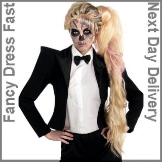 Lady Gaga Skeleton Wig Fancy Dress Born This Way Music Video Accessory