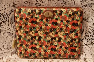 Fossil KEY PER Laptop Netbook Tech Case Sleeve FLORAL MULTI Coated
