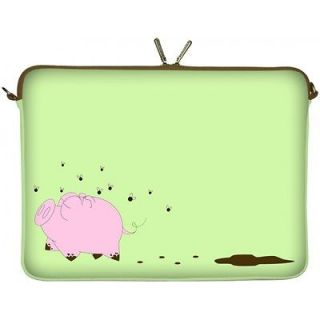 15 inch Laptop Case Notebook Cover Green Pig Sleeve Designer Bag 15.4