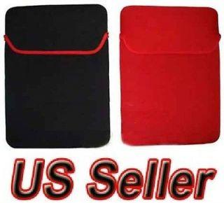 14 14.1 Neoprene Laptop Notebook Sleeve Red Black Reversible Soft Case