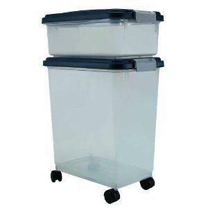 12 and 33 Quart Airtight Pet Dog Food Dry Storage Bin Box Container on