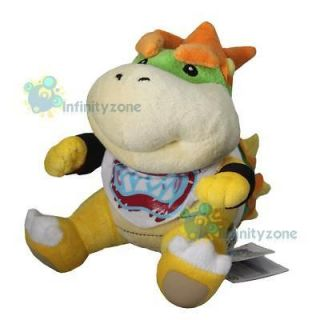 Nintendo Wii Super Mario Bros 7 Bowser Jr Plush Figure Doll Toy