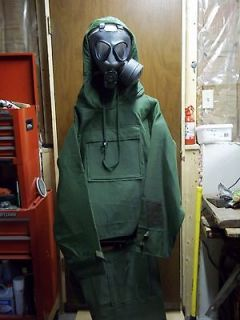 Gas mask and NBC suit, Finnish and NATO military surplus, new