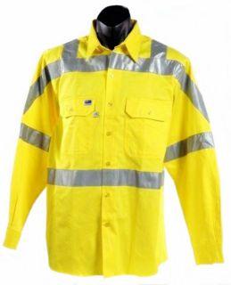 Shirt Yellow Work Safety Cotton 3M Reflective Tape WS8441 S 3XL 4XL