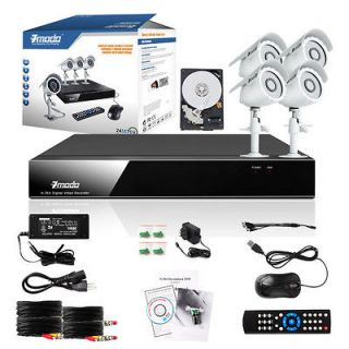 DVR Indoor Outdoor Home Video Surveillance Security Camera System 500G
