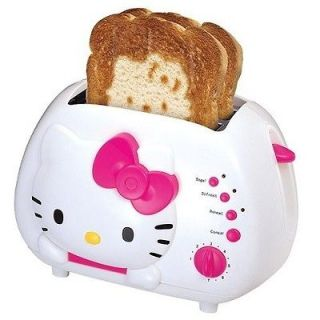 New Hello Kitty 2 Slice Toaster Kitchen Oven Pink White