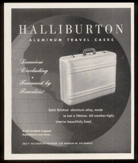 1953 Zero Halliburton travel case luggage suitcase photo vintage print
