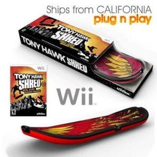 Wii Tony Hawk 2 SHRED Skateboard + Game Bundle Set LN