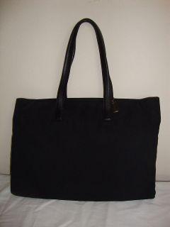 Coach Black Mercer Computer Messenger Briefcase Bag Nylon Twill 5117