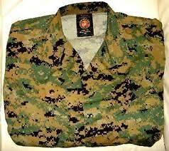USMC Marine Corps camo MARPAT Coat Top Jacket UNIFORM COMBAT SHIRT MED