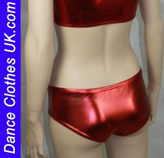Shiny Metallic Spandex, Lycra Hipster HOT PANTS, Club and Dancewear