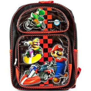 NINTENDO Wii Mario Kart School BACKPACK Book Bag Yoshi Wario