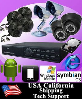 4CH Video Surveillance CCTV DVR Video Recorder Security Camera System