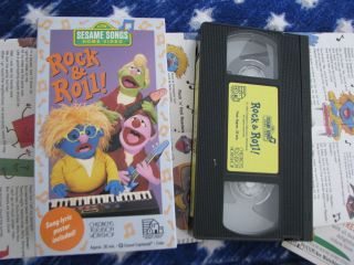 HTF SESAME STREET HOME VHS VIDEO VIDEOS ROCK & ROLL SONG LYRIC POSTER