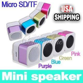 Mini USB MP3 Speaker Music Player Micro SD/TF FM Radio For PC iPod
