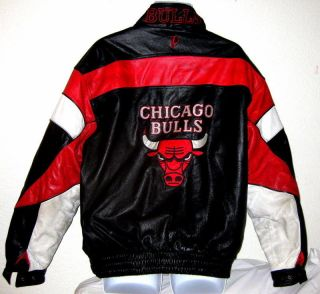 CHICAGO BULLS 1990s NBA PRO PLAYER LEATHER JACKET XL MICH​AEL JORDAN