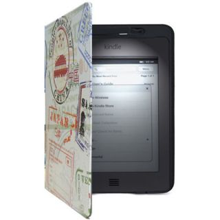 New  Leather Case Cover For Kindle Touch Build In Light Lamp