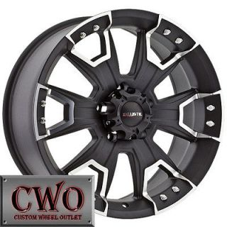 18 Black Ballistic Havoc Wheels Rims 8x180 8 Lug GMC Chevy 2500 2500HD