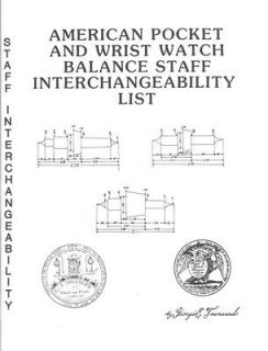 American Pocket Watch Balance Staff Interchangeabi​lity 1986 George