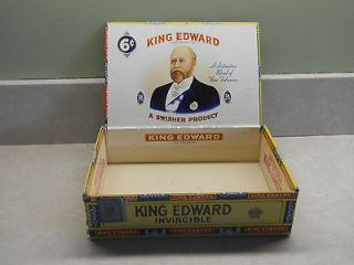 CIGAR BOX OLD KING EDWARD The Seventh brand.