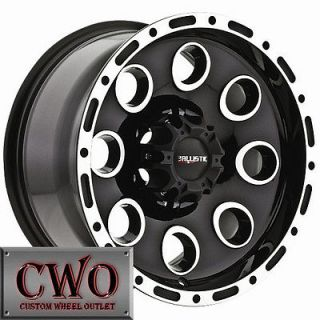 20 Black Ballistic Bullet Wheels Rims 8x165.1 8 Lug Chevy GMC Dodge