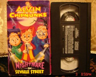 Alvin and the Chipmunks Nightmare on Seville Street VHS