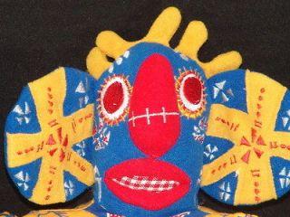 MASK DISNEY YELLOW BLUE LION KING BROADWAY MUSICAL TRICKSTER #4