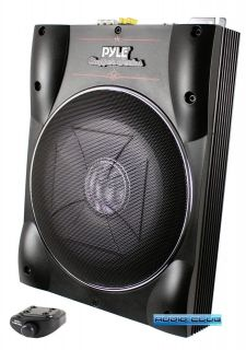 250W 10 ACTIVE AMPLIFIED LOW PROFILE CAR AUDIO SUBWOOFER SYSTEM