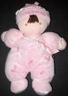 Carters Just One Year My First Doll Lovey Plush Baby Toy Pink