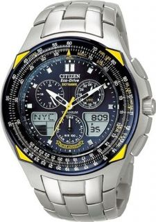 CITIZEN PROMASTER ECO DRIVE SKYHAWK TITANIUM BLUE ANGELS PILOTS WATCH