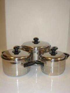 Cooking Pot (3.6QT, 4.7QT, 6.2QT) 3pcs Stainless Steel