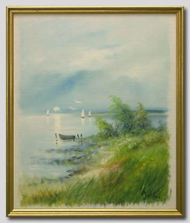 CARL JULIUS/SOUTH COAST   Swedish Art Oil Painting