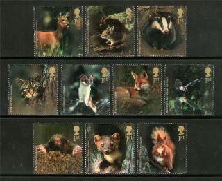 Great Britain   #1026c Woodland Animals Set of 10   2004 VFU