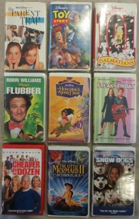 Disney VHS Video Lot Toy Story 101 Dalmations Freaky Friday Flubber