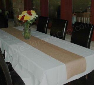 120 LONG BURLAP TABLE RUNNERS   PREMIUM JUTE BURLAP TABLE RUNNER
