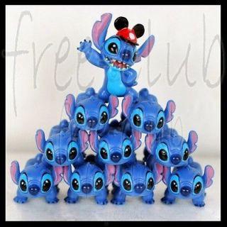 10pc Disney Lilo & Stitch Figure Stacker Tower Set