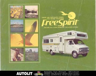 1976 FreeSpirit Motorhome RV Dodge Brochure