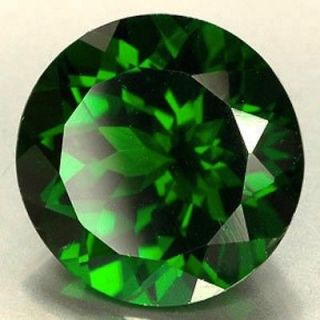 AAA Rated Round Faceted Bright Emerald Green Cubic Zirconia (1mm 20mm)