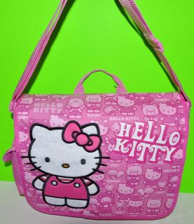 HELLO KITTY MESSENGER BAG PINK Backpack BOOKBAG TOTE PURSE /DIAPER BAG