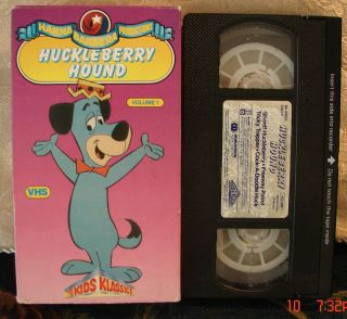 Hanna Barberas HUCKLEBERRY HOUND Volume 1 V.1 Vhs Video RARE OOP HTF